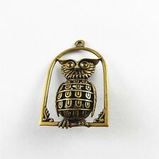 5 pcs Antiqued Bronze Zinc Alloy Cute Owl Charms Necklace Pendant Findings 31243