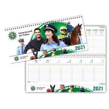 Polizei Kalender Tischquerkalehder 2021 ~ PLUS 1 IPA Aufkleber~LIEFERUNG 10/2021