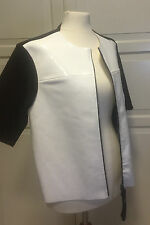 ORIGINALE Marni giacca giacca di pelle bianca pelle verniciata EUR dimensione 38 size US 8 UK 12
