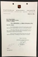 1965 NHL Frank Mahovlich Punch Imlach Clarence Campbell Toronto Maple Leafs Fine