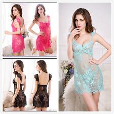 Women Sexy Lingerie Lace Dress Babydoll Underwear Nightwear Sleepwear G-string