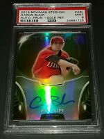 2013 Bowman Sterling #ABL Aaron Blair Auto Prospects Gold Ref #35/50 PSA 9 Mint
