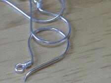 Bali sterling silver ~Coil loop ear wires ~-22g wire-sterling-metal-1/2 inch