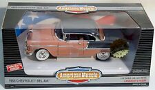 ERTL 1/18 1955 Chevy Bel-Air CORAL & BLACK salmon 7868 SEALED 55 American Muscle