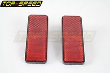 PMMA Red Warning Reflector Universal For Motorcycle Car ATV Dirt Bike Truck Pair