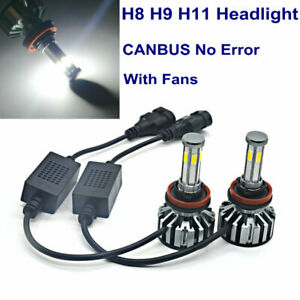 H8 H9 H11 LED Headlight Kit 6 Sides COB 72W Low Beam for Toyota Prius 2010-2016
