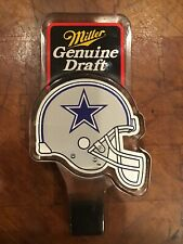 Miller Genuine Draft Dallas Cowboys Nfl Football Beer Tap Handle Rare