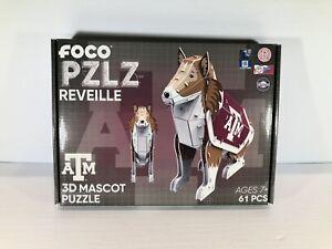 Foco PZLZ NFL Texas A&M REVEILLE Team Mascot 3D Puzzle 61pcs NEW