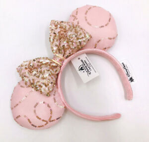 Disney Parks Minnie Ears Fantasy Pink Bow Sequins Girl Kids New Cos Headband