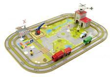 Holzspielzeug Playtastic Mittelgroßes Holz-Eisenbahn-Set mit 29 Teilen Spielzeug Eisenbahn