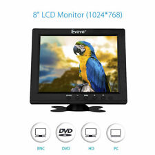 "NEW Portable HD 8"" TFT LCD Monitor VGA BNC Video Audio HDMI Input For PC CCTV"