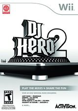 Nintendo Wii DJ HERO 2 Video GAME ONLY david guetta spin flo-rida NO TURNTABLE