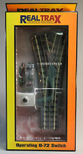 MTH REALTRAX 072 WYE SWITCH o gauge train accessory operating split turn 40-1068