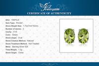 1.8ct Genuine Peridot 925 Sterling Silver Stud Earrings UK Seller