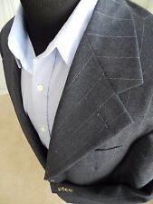 STUNNING Pinstripe Polo Ralph Lauren Wool Suit 42 L Long Fully Canvassed