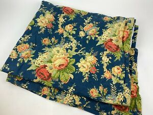 WAVERLY Sanctuary Rose BLUE Floral WINDOW Curtain Panel ROD Pocket OR Tabs