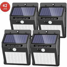 Lot de 4 lumières solaires d'extérieur avec détecteur de mouvement 120° étanche