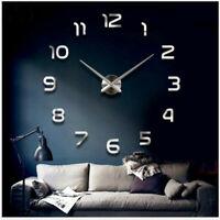 Wall Clock Large Mirror Sticker 3D DIY Quartz Needle Living Room Home Decor