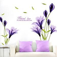 Wandtattoo Wandaufkleber XL Lily Lila Vogel Blumen Schmetterling Wohnzimmer