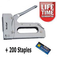 New Heavy Duty Steel Staple Gun Stapler Tacker 6-14mm Staples + 200x 8mm Staples