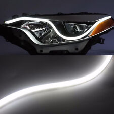 60cm White LED Light Strips Car Flexible Switchback DRL Sequential Turn Signal