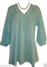 Damenblusen,-Tops & -Shirts im Tuniken-Stil mit V-Ausschnitt und Baumwolle für Business
