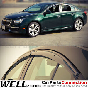 WellVisors Window Visors 2011-2015 Chevy Cruze Sedan Side Deflectors Deflectors