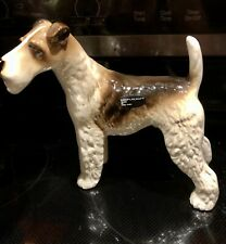 New listing Vintage Coopercraft Pottery Wire Hair Fox Terrier Dog Figurine 7�tall England