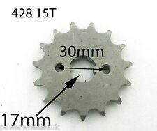 SPF15 FRONT SPROCKET COG 428 15T FOR QUAD BIKE 17MM SPLINE
