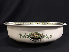 Vintage Antique pre 1930s Royal Doulton Large Wash Basin or Bowl Fruit in Urn