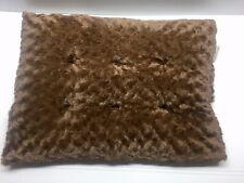 "PAW Lavish Cushion Pillow Furry Pet Bed -Brown Medium 24x16"" New"