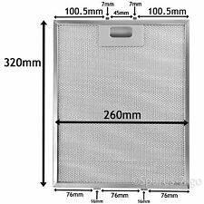 Metal Mesh filter For ROSIERES Cooker Hood Extractor Vent Fan 320 x 260 mm