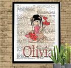 Personalized Little Love Girl Dictionary Art Print Custom & Unique Gift Idea
