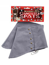 Mens 1920s 1930s Gangster Gatsby Spats Steampunk Roaring Fancy Dress Accessory