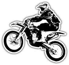 "Dirt Bike Motocross Racing Car Bumper Window Tool Box Sticker Decal 5""X4"""