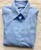 Ralph Lauren Long Sleeve Button Down Mens Shirt Blue Large