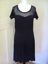 Evans black dress with ties & size 14