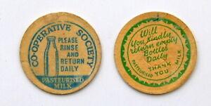 old 1930's milk bottle cardboard caps :  dairy
