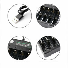 4 Slots 18650 Battery Charger Usb Rechargeable 10440 16340 14500 Battery Supply