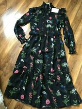 NOUVEAU! £ 189 Ted Baker Florence Midi Robe, Manches longues/SZ 1 UK 8