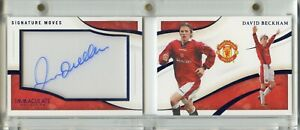 2020 Panini Immaculate DAVID BECKHAM Signature Moves Sapphire Auto Booklet #8/10
