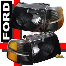 02 03 04 05 Ford Explorer XLT Black Headlights & Corner Signal Lights RH + LH