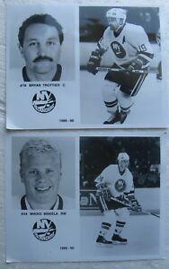 1989-1990 NY Islanders team-issued media photos BRYAN TROTTIER & Mikko Makela