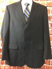 Brooks Brothers BROOKSEASE Mens Charcoal Blazer Sportscoat 44-Extra Long (t7)