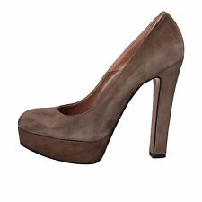 scarpe donna GIANNI MARRA 38,5 EU decolte' beige camoscio AD125-E