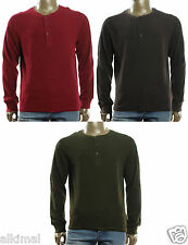 NEW MENS FIELD & STREAM WAFFLE LONG SLEEVE HENLEY NECK THERMAL SHIRT