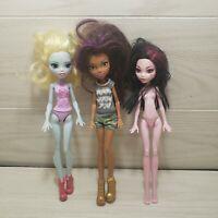 Monster High Doll Lot of 3! (2016)Lagoona Blue, (2016)Clawdeen, (2008)Draculaura