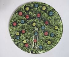 Hand Signed John Derian Decoupage Family Values Tree Round Plate