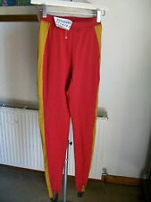 "Red/Brown Leggings, Made in Holland, Size 8 (E36), Length 31"" BNWT"