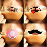 Fun Novelty FILTER FACE CUP Hot Cold Beverages BORISCILICATE GLASS